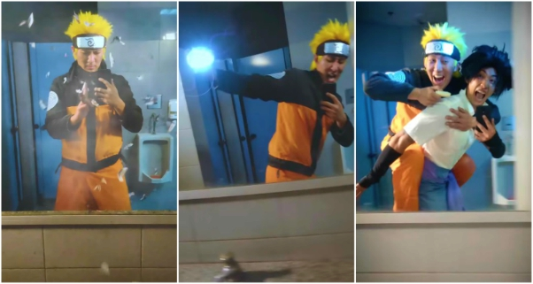 Viral Naruto Mirror Run Challenge Video